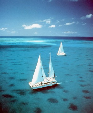 Sailing in the Whitsundays.