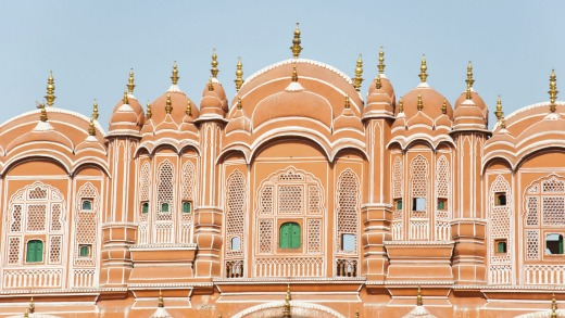 The famous Hawa Mahal, 'Palace of Winds', in Jaipur.
