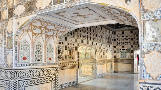 Hall of Mirrors, Amber Fort, Jaipur.
