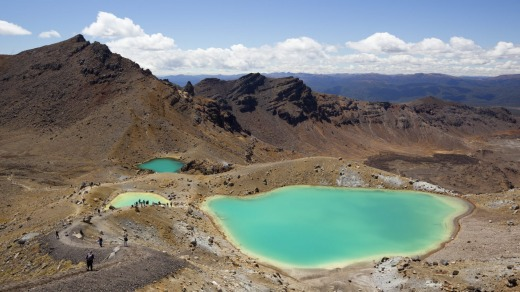 Emerald Lakes on the Tongariro Alpine Crossing, Tongariro National Park.