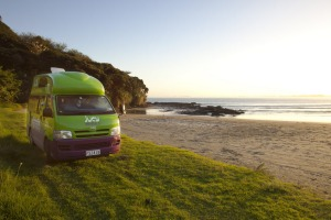 Our beach campsite beside Ahipara Bay.