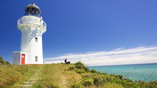 East Cape Lighthouse, on New Zealand's North Island east coast.