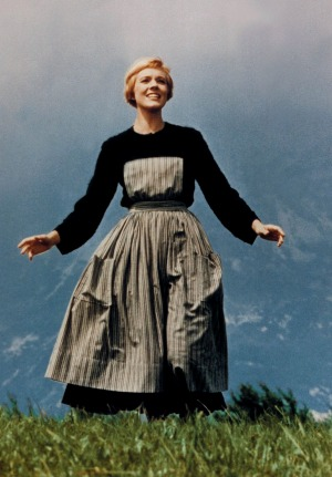 Julie Andrews in <i>The Sound of Music</i>.