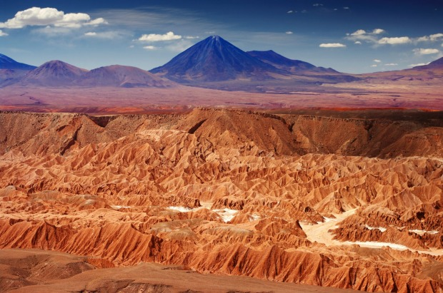 "Atacama Desert: The Atacama is the ultimate expression of the phrase ""high and dry"" - a desert 4000 metres above sea ..."