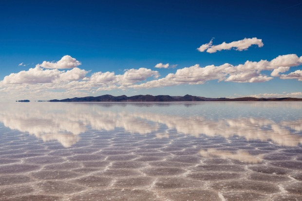 Lake Uyuni: During the day, this huge salt pan in central Bolivia is isolated. It's an endless stretch of bright white ...