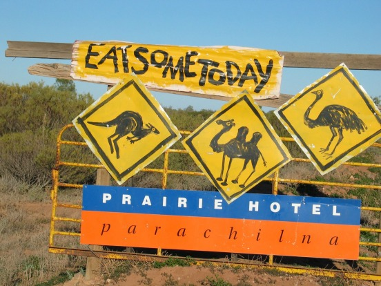 Parachilna. Nothing is wasted in the Flinders Ranges in outback South Australia - a feral mixed grill with kangaroo ...