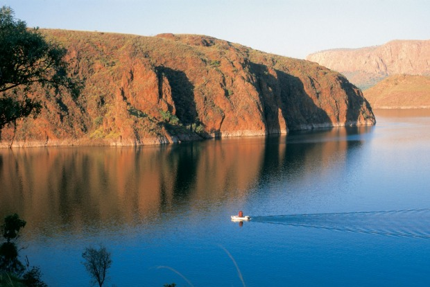 Lake Argyle, WA: Lake Argyle from above is such a startling sight, you could be forgiven for thinking you are dreaming. ...