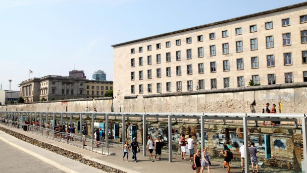 The remaining section of the Berlin Wall near Martin-Gropius-Bau.