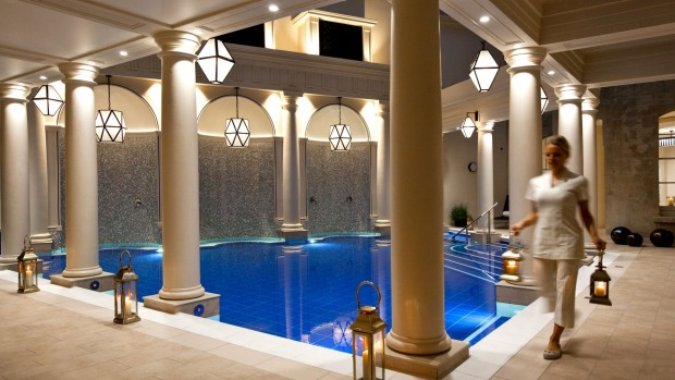 Guests can take the Bath House Circuit, moving between two smaller thermal pools, sauna, steam room and ice alcove, ...