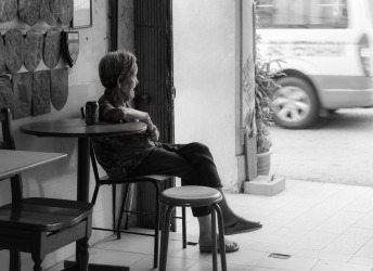 George Town, Penang, Malaysia Everyday, same seat, people watching.
