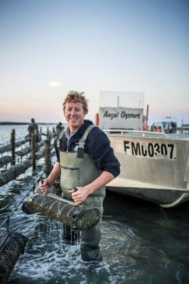 Zac Halman, owner of Angel Oysters.