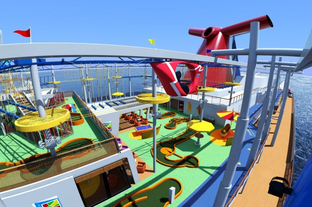 The Sport Square Skyride on Carnival Vista.