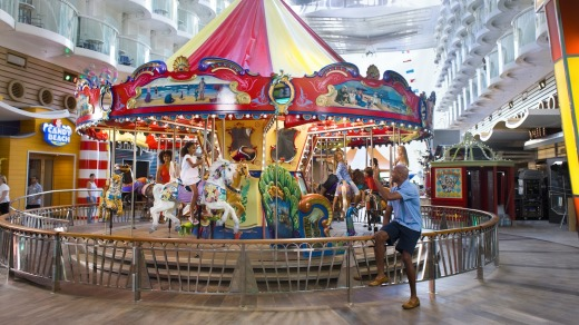 Hand carved carousel on board the Oasis of the Seas  - Royal Caribbean str19oasis str17cover