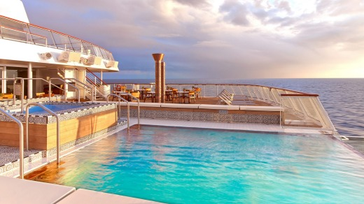 The Viking Star Aquavit Terrace infinity pool.