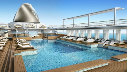 Regent 7 Seas explorer pool deck.