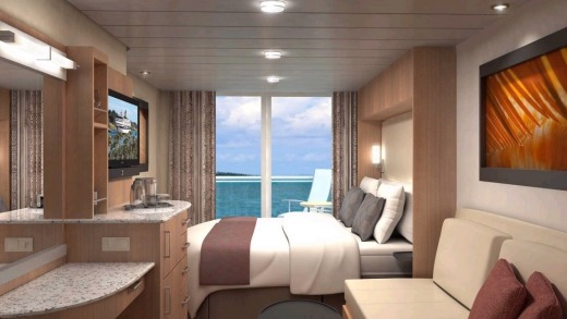 Celebrity Cruises Aqua class suite.