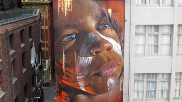 Adnate's Hosier Lane portrait is 23 metres high.