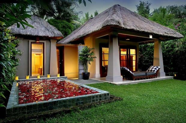 A delux pool villa at Maya Ubud.