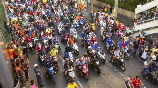 Traffic in Thailand is terrible.