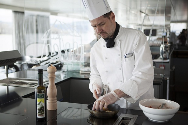 One of Scenic's chefs on board Scenic Jasper.