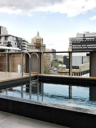 The Old Clare Hotel rooftop pool.