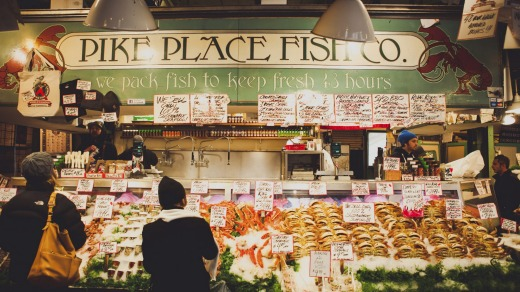 The Seattle Pike Place Fish Company.