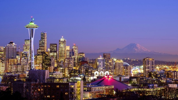 The Seattle skyline.
