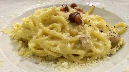 Carbonara at Salumeria Roscioli.