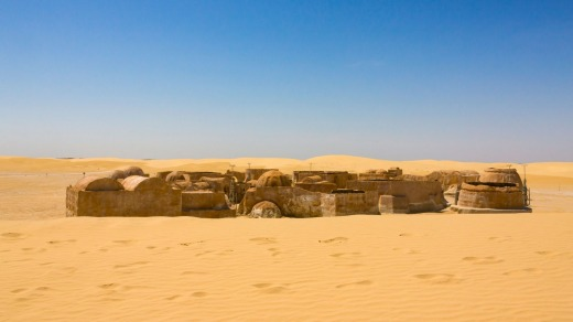 You can feel like a Star Wars character walking through these locations.