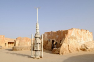 Remains of the Star Wars set near Tozeur in Tunisia are still there.