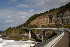 The Sea Cliff Bridge along the Grand Pacific Drive in NSW.