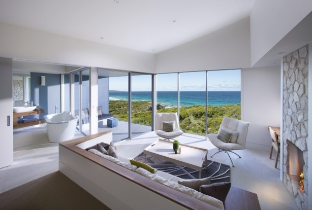 The Ocean Retreat room at Southern Ocean Lodge, Kangaroo Island.