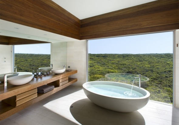 The Osprey Bathroom at Southern Ocean Lodge, Kangaroo Island.