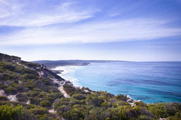 Clifftop views at Southern Ocean Lodge, Kangaroo Island.