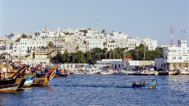 Old Tangier, Morocco, from the harbour.