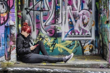 Hosier Lane in Melbourne is an ever changing backdrop of street art and vibrant tags that attract visitors and locals alike.