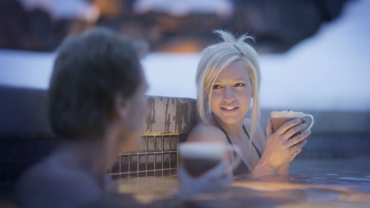 One of the many outdoor spas at Whistler.