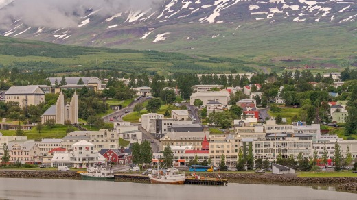 Akureyri is a port and fishing centre.
