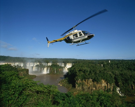 GET A BIRD'S-EYE VIEW: The only way to get a proper perspective on the size and scope of Iguazu's 275 waterfalls is from ...