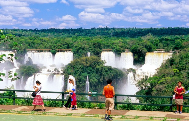 BLAZING THE TRAIL: To fully appreciate the magnitude of the falls, which stretch for 2.7 kilometres in continuous ...