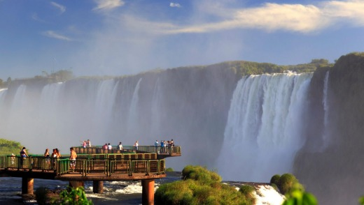 The Devil's Throat is the highest of the Iguazu Falls.