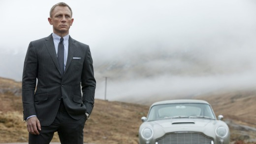 James Bond (Daniel Craig) takes in the view of the countryside that he grew up in, the Scottish highlands. in <i>Skyfall</i>.