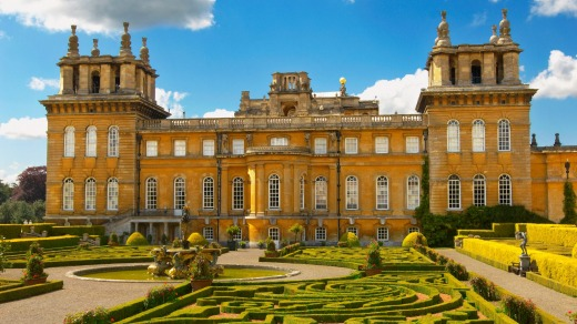 Blenheim Palace with topiary maize.