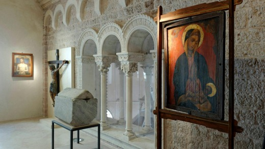 The St Tryphon Catherdral museum in the UNESCO World Heritage-listed old city of Kotor on the Adriatic coast.