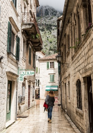 The streets in old town, Kotor.