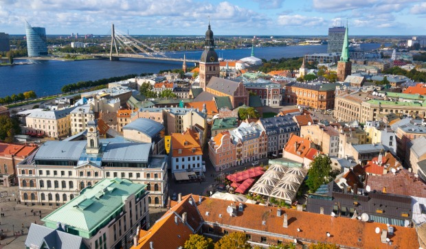 Number 5: Latvia. Pictured, the old city of Riga.