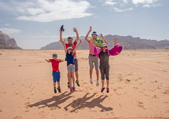 The Wadi Rum desert in Jordan.