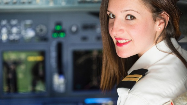 You'll have to travel on about 20 flights before you hear a female pilot's voice over the tannoy.