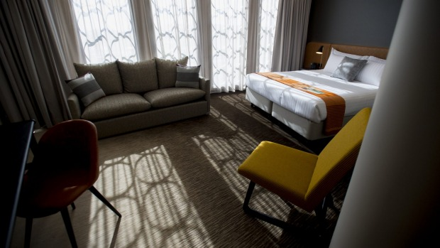 A room at The Vibe Hotel.
