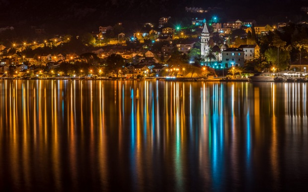 Kotor at night.